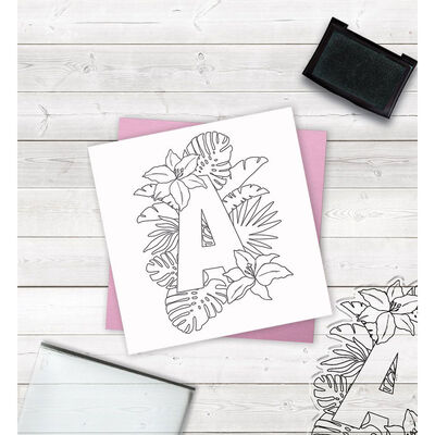 Crafters Companion Clear Acrylic Stamp - Floral Letter A image number 2