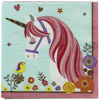 Magical Unicorn Party Napkins - 16 Pack