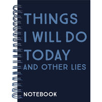 A5 Things I Will Do Notebook