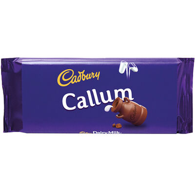 Cadbury Dairy Milk Chocolate Bar 110g - Callum image number 1