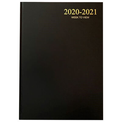A4 Black Week To View 2020-21 Academic Diary image number 1