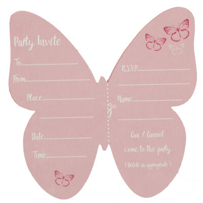 8 Ombre Butterfly Party Invites image number 3