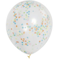 Multi Confetti Balloons - 6 Pack