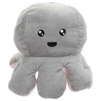 Reversible Squid Plush Toy: Grey & Pink