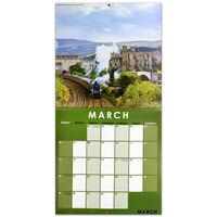 Steam Trains 2022 Square Calendar and Diary Set
