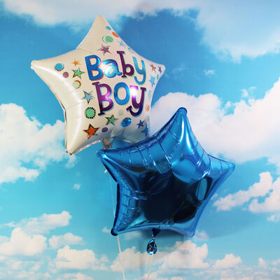 18 Inch Blue Star Helium Balloon image number 4
