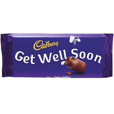 Cadbury Dairy Milk Chocolate Bar 110g - Get Well Soon image number 1