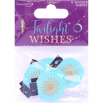 Twilight Wishes Wooden Bauble Shapes - Pack of 6 image number 1