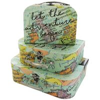 World Map Let The Adventure Begin Storage Suitcase: Set of 3