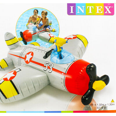 Intex Inflatable Ride On Water Gun Aeroplane Pool Float image number 2