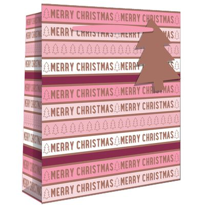 Large Pink Merry Christmas Gift Bag image number 1