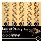 Wooden Laser Cut Draughts Set image number 1