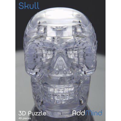 3D Skull 49 Piece Jigsaw Puzzle image number 1