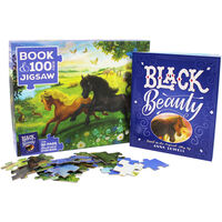 Black Beauty 100 Piece Jigsaw Puzzle and Book Set