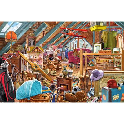 The Cluttered Attic 1000 Piece Jigsaw Puzzle image number 2
