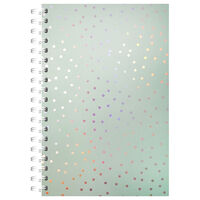 A5 Wiro Spotted Iridescent Lined Notebook