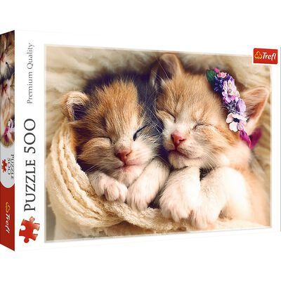 Sleeping Kittens 500 Piece Jigsaw Puzzle image number 1