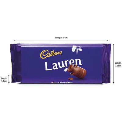 Cadbury Dairy Milk Chocolate Bar 110g - Lauren image number 3