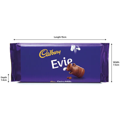 Cadbury Dairy Milk Chocolate Bar 110g - Evie image number 3