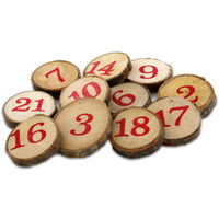 Wood Advent Numbers: Pack of 24