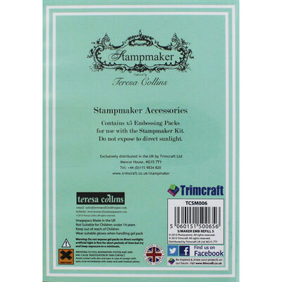 Teresa Collins Stampmaker 5 Embossing Refill Packs image number 3