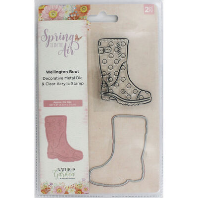 Crafters Companion Spring is in the Air Stamp and Die - Wellington Boot image number 1