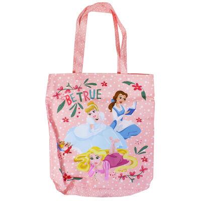 Disney Princess Pink Be True Canvas Tote Bag image number 1
