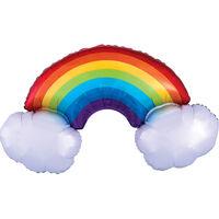 37 Inch Rainbow Super Shape Helium Balloon
