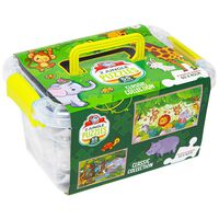 Jungle 2-in-1 Jigsaw Puzzle with Carry Case