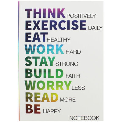 A5 Flexi Think Positively Lined Notebook image number 1