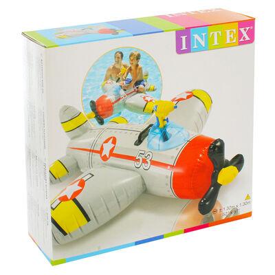 Intex Inflatable Ride On Water Gun Aeroplane Pool Float image number 1