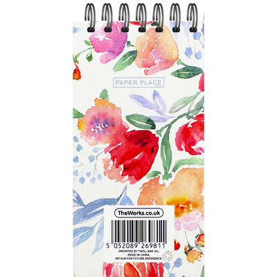 Floral Long Wiro Notepad image number 3