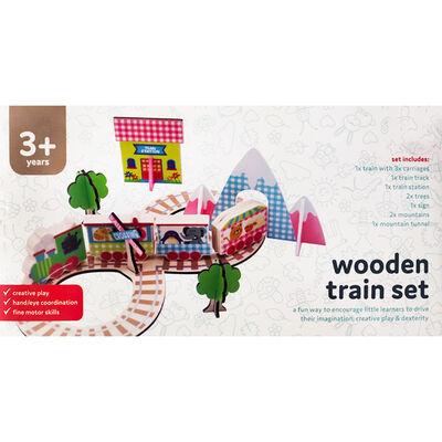 Wooden Train Set image number 1