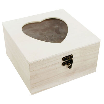 Large Wooden Heart Box image number 1