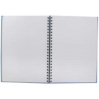 A4 Wiro Plain Blue Lined Notebook image number 2