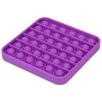Pop 'N' Flip Bubble Popping Fidget Game: Assorted Plain Square