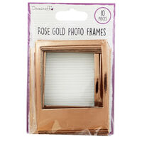 Dovecraft Essentials Photo Frames - Rose Gold - 10 Pack