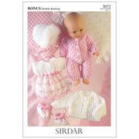 Hayfield Bonus DK: Doll Set Knitting Pattern 3072