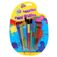 Assorted Paint Brushes - Pack Of 15
