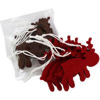 Felt Hanging Reindeer - 12 Pack