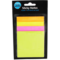 4 Sticky Notes Pads - Assorted