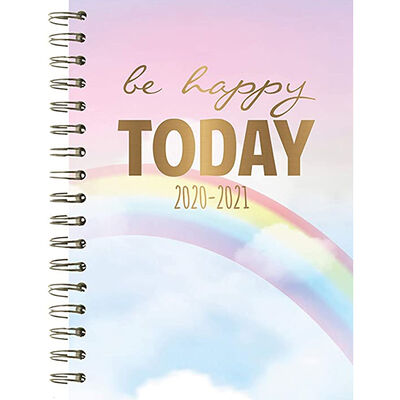 A5 Be Happy Today Week to View 2020-21 Academic Diary image number 1
