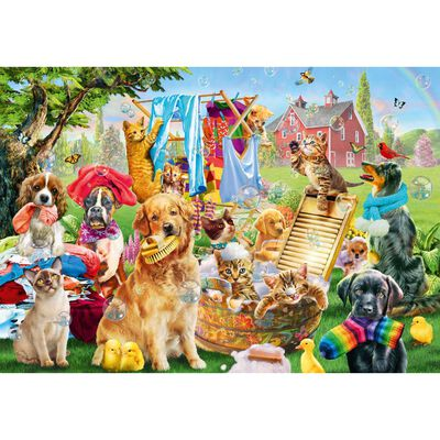 Pets On Wash 500 Piece Jigsaw Puzzle image number 2