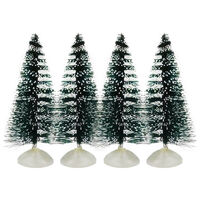 Christmas Tree Figures: Pack of 4
