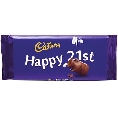 Cadbury Dairy Milk Chocolate Bar 110g - Happy 21st image number 1