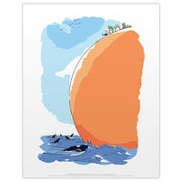 Roald Dahl James and the Giant Peach Sea Print