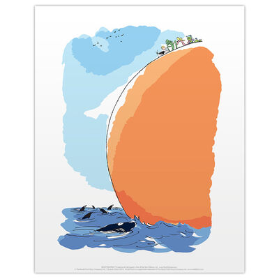 Roald Dahl James and the Giant Peach Sea Print image number 1