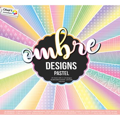 Ombre Designs Paper Pad - 30cm x 30cm - Assorted image number 3