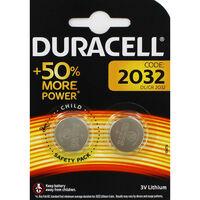 Duracell Plus Power DL CR 2032 Batteries - 2 Pack