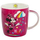 Disney Minnie Mouse Pink Rainbow Ceramic Mug image number 2
